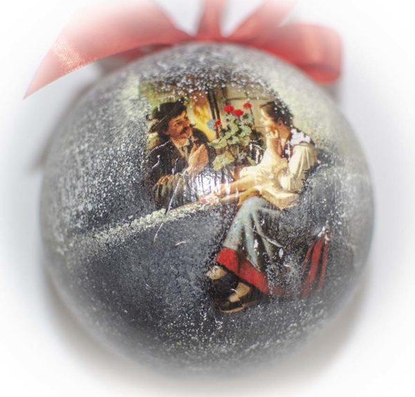 печать изображения на елочных шарах