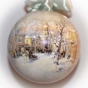 елочный шар зима