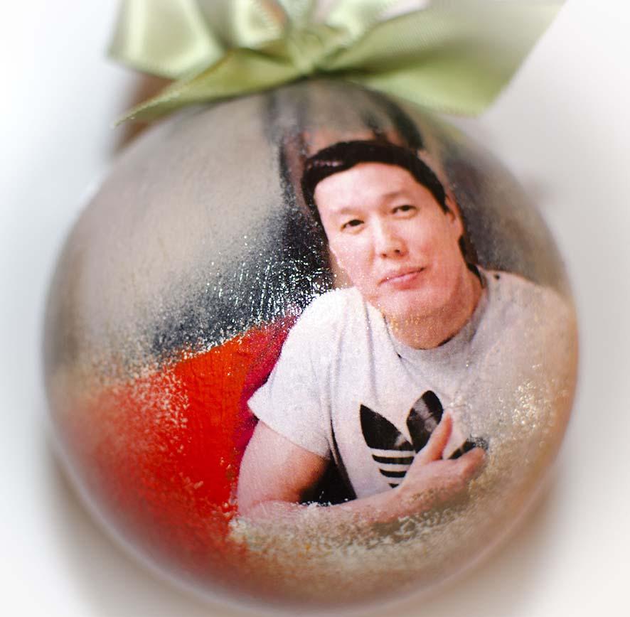 Елочный шар с фото