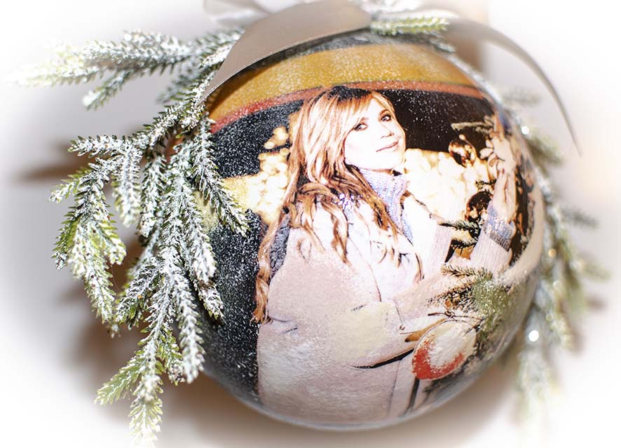 новогодние шары с фото