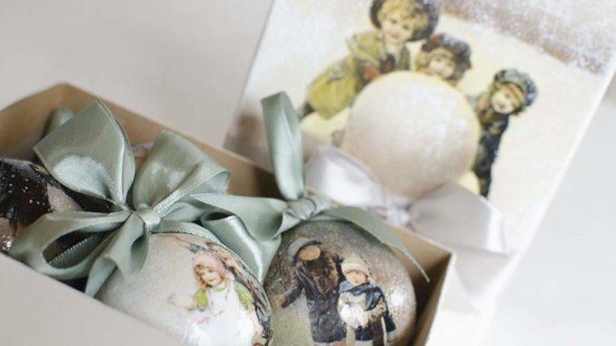 Новогодние шары с росписью