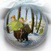 елочный шар лыжники