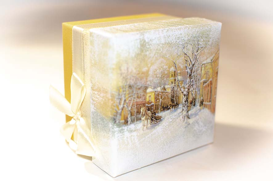 зимний пейзаж в подарок