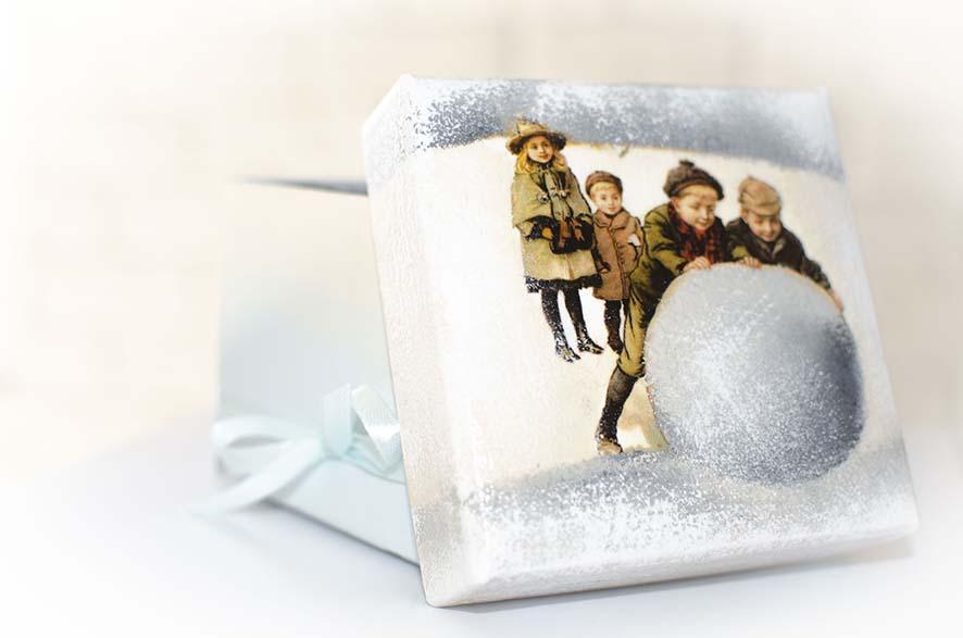 подарочная коробка с крышкой