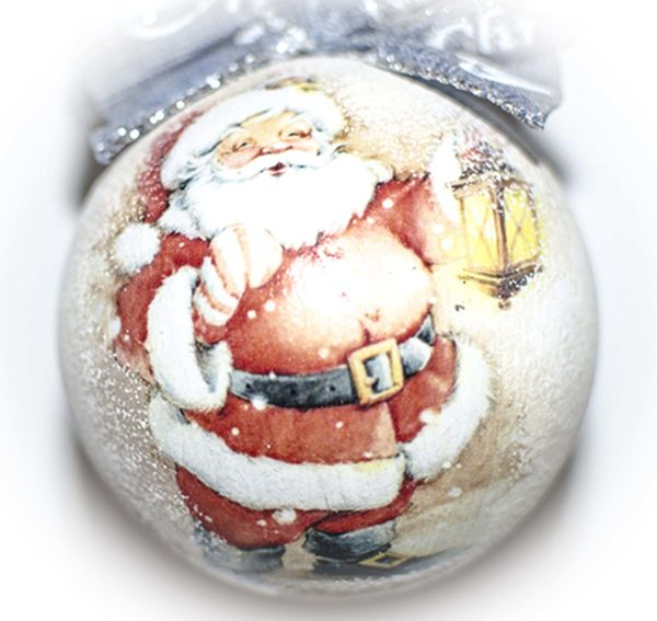 елочный шар дед мороз с фонариком